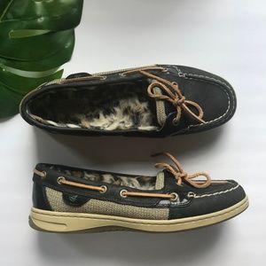 Sperrys Angelfish Leather Boat Shoe w/ Faux Fur